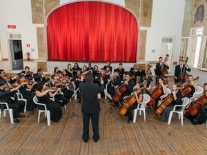 Orquestra Filarmônica Jovem de Piracicaba (SP) (Foto: Carlos Mendes/Divulgação)