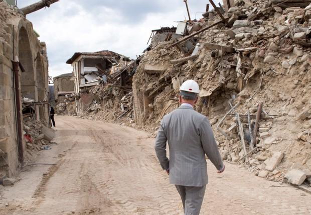 Destruição em Amatrice, cidade da Itália, após terremoto em abril de 2017 (Foto: Getty Images)