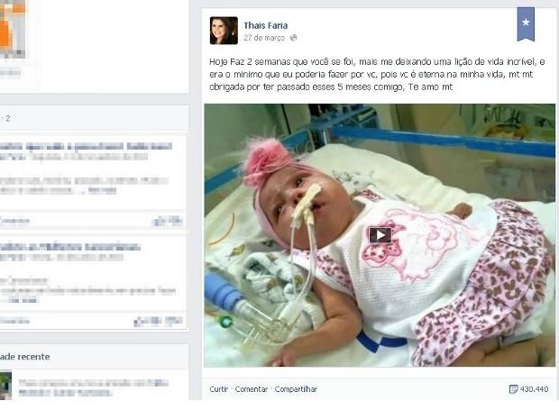 G1 Mãe Faz Vídeo Após Morte Da Filha E Causa Comoção Na Internet
