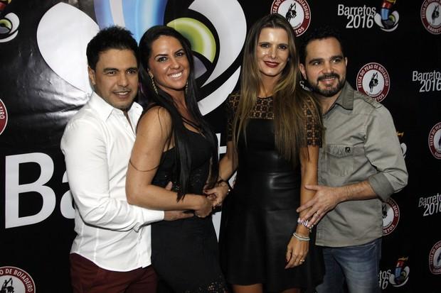 Zezé Di Camargo e Luciano e Flávia Camargo e Graciele Lacerda (Foto: Celso Tavares/EGO)
