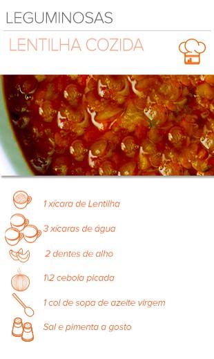 EuAtleta Arte Info receita Lentilha Cozida (Foto: Eu Atleta   Arte Info)