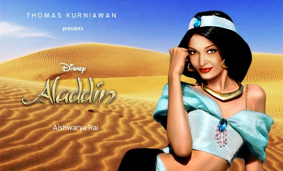 Aishwarya Rai como Jasmine de 'Aladdin' (Foto: Thomas Kurniawan)