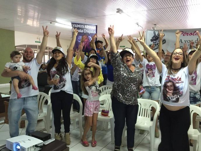A galera animada em Apucarana (Foto: arquivo pessoal)