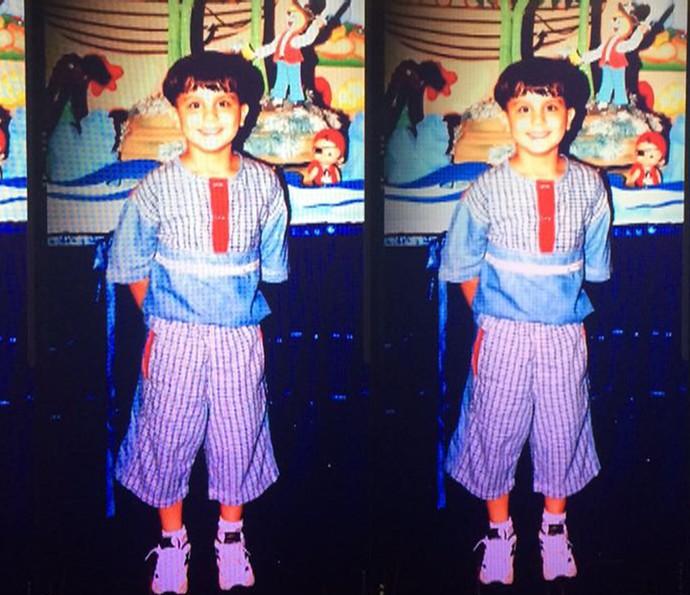 Luan Santana admite ser vaidoso desde criança e reclama das roupas que sua mãe escolhia (Foto: Arquivo Pessoal)