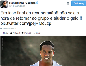 Ronaldinho twitter (Foto: Reprodução \Twiiter)