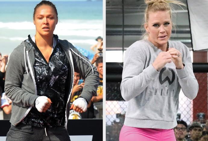 MONTAGEM - UFC Ronda Rousey x Holly Holm (Foto: Editoria de Arte)