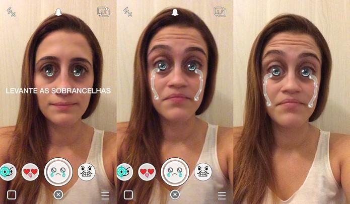 A novidade também possui um efeito especial imitando lágrimas (Foto: Reprodução/Juliana Pixinine)