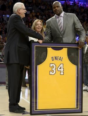 Shaquille O'Neal tem camisa imortalizada - AP (Foto: AP)