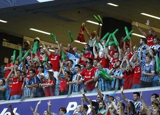 Torcida mista Gre-Nal Arena (Foto: Lucas Uebel/Divulgação Grêmio)