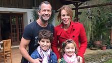 Protagonistas de nova novela das 7  gravam cena em Cunha (Letícia Veiga/Globo)