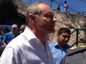 Beltrame inaugura Companhia Destacada da PM na Praça Seca, em Jacarepaguá, no Rio (Foto: Isabela Marinho/G1)
