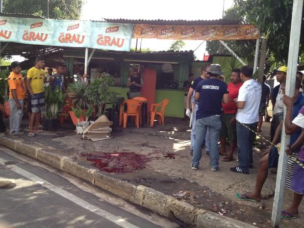 Bar onde o crime aconteceu fica localizado no bairro Tabuleta em Teresina (Foto: Yara Pinho)