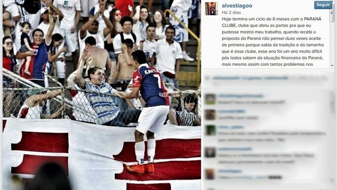 Tiago Alves Paraná Clube (Foto: Reprodução/Instagram)