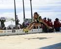 Maurren Maggi faz salto de despedida e se emociona em evento no Rio