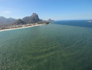 Poluição Barra da Tijuca surfe Rio Pro (Foto: Mário Moscatelli/Divulgação)