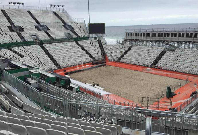 Arena do vôlei de praia em Copacabana (Foto: Lucas Barros)