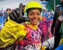Josi afasta medo por acidente de Lais e vira olheira para promover esqui