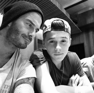 David Beckham e filho Brooklyn (Foto: Instagram / Reprodução)