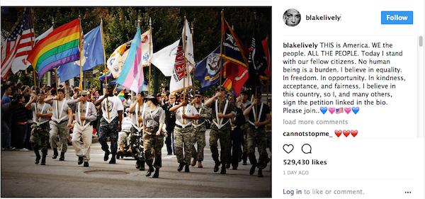 A crítica de Blake Lively a Donald Trump (Foto: Instagram)
