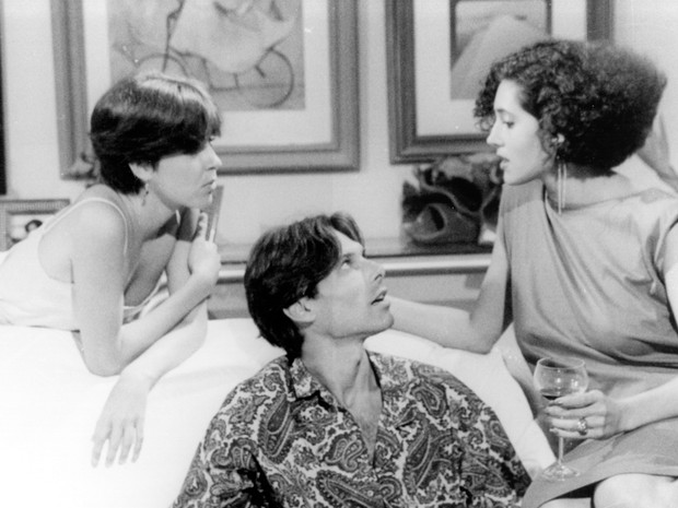 Deborah Evelyn (Lenita), Eduardo Tornaghi (Rafael) e Christiane Torloni (J) (Foto: CEDOC/ TV Globo)