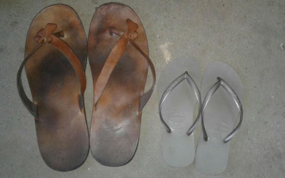 Rodrigo ganhou roupas, sapatos e chinelos do seu tamanho. (Foto: Arquivo pessoal)