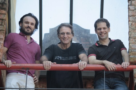 Gustavo Falcão, Herson Capri e Daniel Dias: peça (Foto: Mônica Vilela)