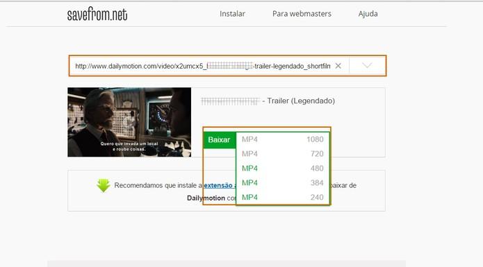 DailyMotion também tem vídeos que podem ser baixados pelo SaveFrom (Foto: Reprodução/Barbara Mannara)