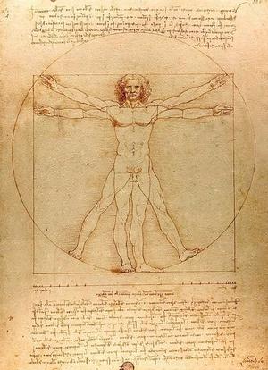 Homem Vitruviano (1490)  (Foto: Desenho: Leonardo Da Vinci / Reprodução)