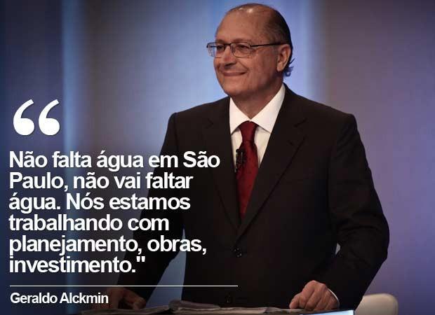 Em 30 de setembro, no debate do 1º turno na TV Globo, Alckmin disse que não falta e não vai faltar água. (Foto: Arquivo/Caio Kenji/G1)