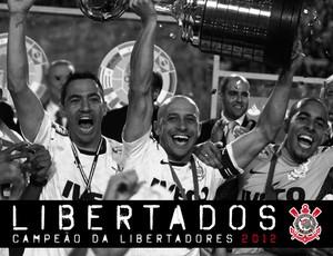 Projeto Grafico Libertadores Corinthians CAPA Livro (Foto: Divulgação)