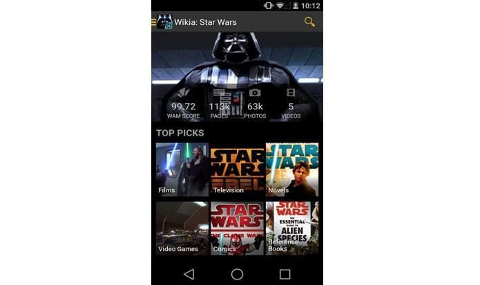 Wiki: Star Wars é um app desenvolvido pelos próprios fãs com conteúdos bem legais sobre os filmes (Foto: Divulgação/ Wiki: Star Wars)