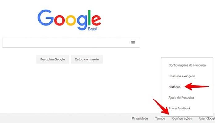 Acesse o histórico de buscas do Google (Foto: Foto: Reprodução/Helito Bijora)