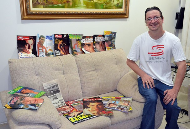 Xiblents, fã de Ayrton Senna e apaixonado por F1 (Foto: Marketing / TV Fronteira)