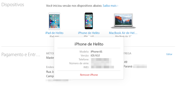 Descobrindo o IMEI de um iPhone (Foto: Reprodução/Helito Bijora)