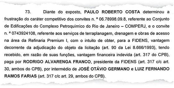 Relatório final da Polícia Federal indica que os deputados José Otávio Germano (PP-RS) e Luiz Fernando Faria (PP-MG) intermediaram o pagamento de propina para Paulo Roberto Costa  (Foto: reprodução)