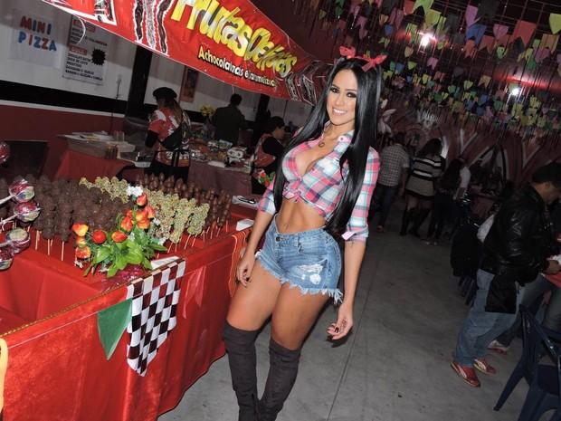 Dai Macedo em festa julina em São Paulo (Foto: Thais Aline/ Ag. Fio Condutor/ Divulgação)