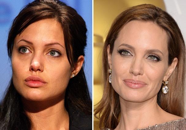 Angelina Jolie está muito mais elegante com as sobrancelhas mais grossas (Foto: Getty Images)