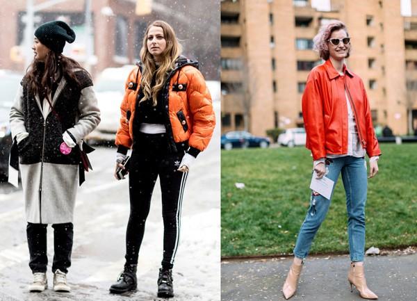 Aposte numa puffer jacket ou jaqueta de couro ecológico na cor laranja (Foto: Imaxtree)