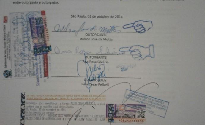 Contrato Julio Polizeli Alyson (Foto: Reprodução)