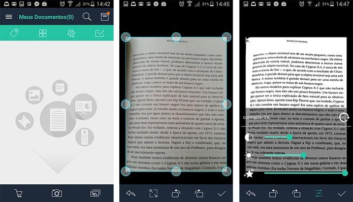 CamScanner tem interface bem completa para a edição de documentos e salva em PDF (Foto: Reprodução/Barbara Mannara)