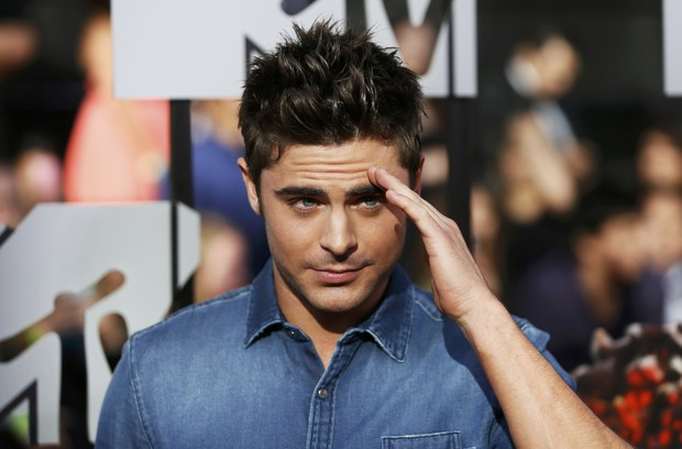 Zac Efron no MTV Movie Awards em Los Angeles, nos Estados Unidos (Foto: Danny Moloshok/ Reuters)