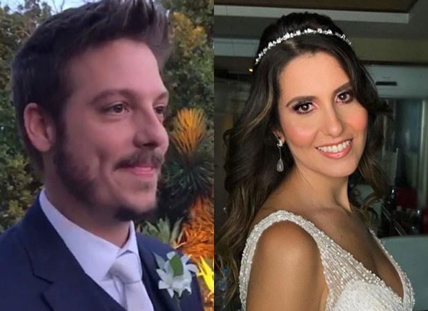 Fabio Porchat e Nataly Mega se casaram no Rio (Foto: Reprodução Instagram)