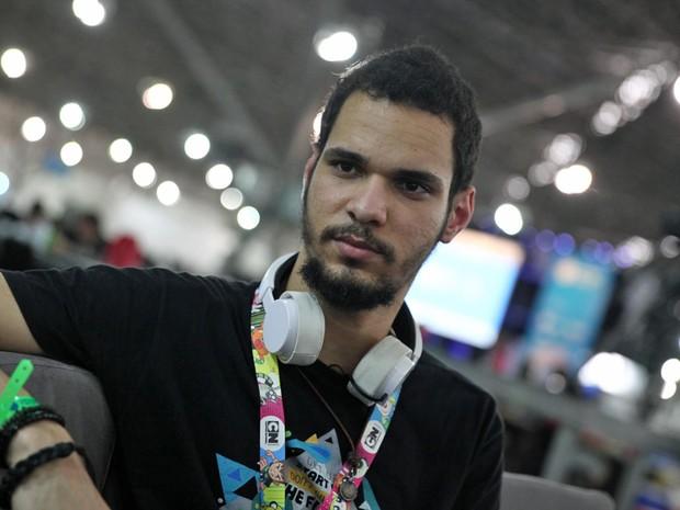 Matheus Santos, de 23 anos, no primeiro dia de Campus Party (Foto: Fabio Tito/G1)