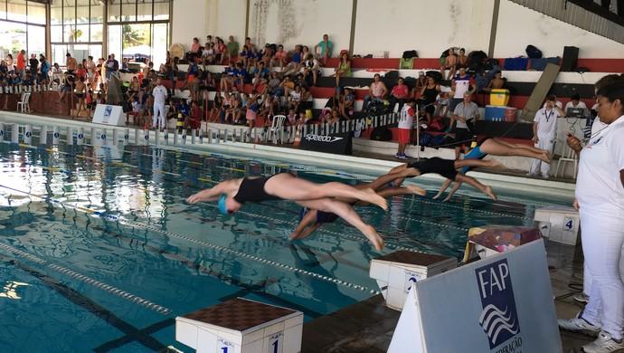 Torneio Regional Petiz a Sênior, natação de Prudente (Foto: João Paulo Tilio / GloboEsporte.com)