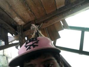 Foto tirada por suspeito foi enviada automaticamente para email da vítima (Foto: Divulgação/PM)