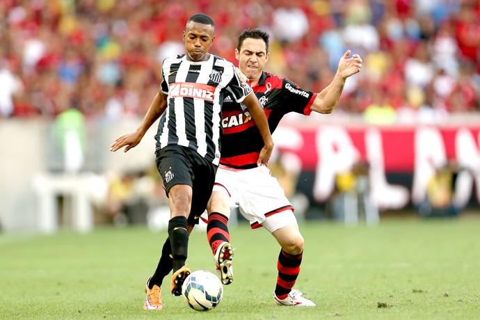 Chicão e Robinho, Flamengo X Santos (Foto: Getty Images)