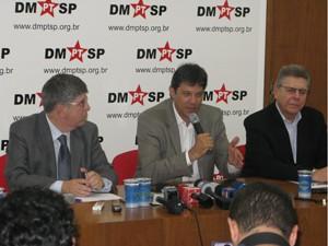 Donato,  Haddad e Eliseu  (Foto: Roney Domingos/ G1)