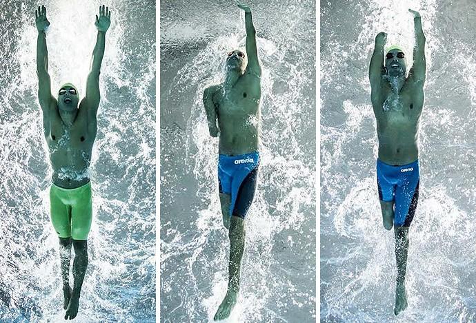 Montagem Nadadores paralímpicos (Foto: Jonne Roriz)