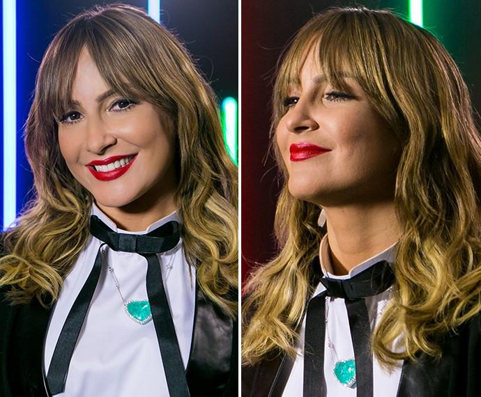 Na estreia da quarta temporada, Claudia optou por um vermelhão daqueles que não pode faltar na bolsinha de maquiagem (Foto: Isabella Pinheiro / Gshow)