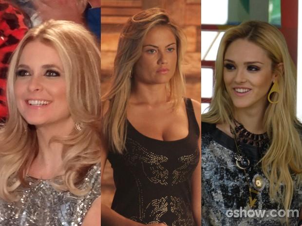 Pamela, Ludmila e Megan são cheias de truques para o olhar poderoso (Foto: Geração Brasil/TVGlobo)